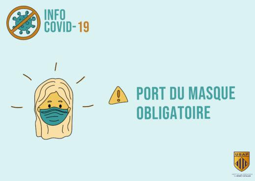 port du masque obligatoire signletique porte